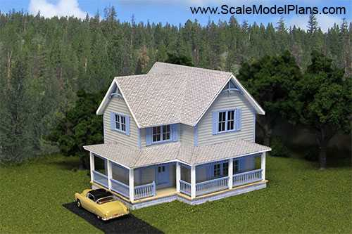 Model train structure plans for Model house plan