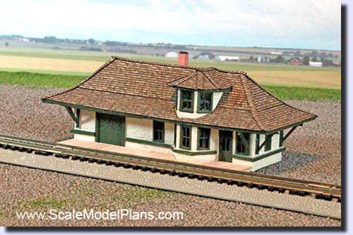 N Scale model train building